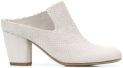 Julie chunky heel mules - White