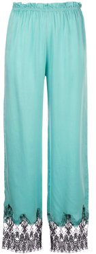 Camelia lace trim trousers - Blue
