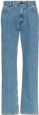 straight leg Jaws print denim jeans - Blue