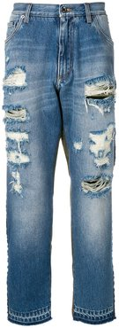 Camouflage-detail jeans - Blue