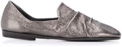 gathered front loafers - Grey