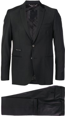 slim fit two piece suit - Black