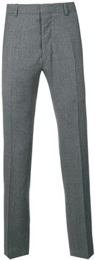 Fitted Leg Trousers - Grey