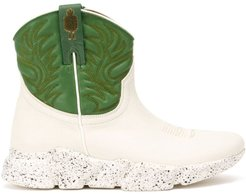 western sneaker boots - White