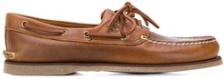 lace-up boat shoes - Brown