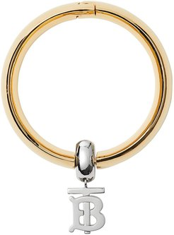 Gold-plated Monogram Motif Bangle