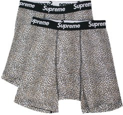 leopard print boxers - Brown