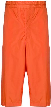 side panel cropped trousers - ORANGE