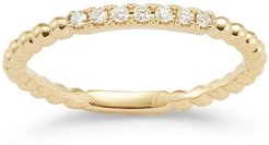 18kt yellow gold and diamond Poppy Rae ring