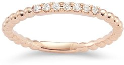 18kt rose gold and diamond Poppy Rae ring - PINK