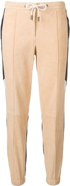 two-tone sports trousers - Neutrals