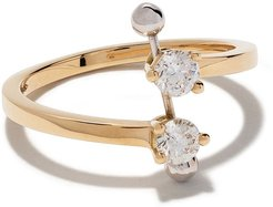 18kt yellow and white Two In One diamond ring - YELLOW AND WHITE GOLD