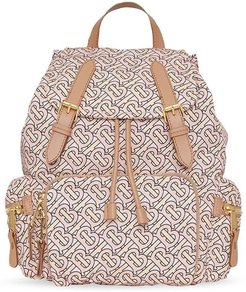 The Medium Rucksack in a Monogram Print - Neutrals