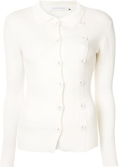double buttoned cardigan - White