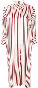 striped milly shirt dress - Red