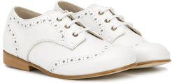 lace-up brogues - White