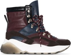 Eclypse high top hiking sneakers - Red