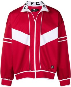 classic track jacket - Red