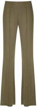 Pelican wide-leg trousers - Green