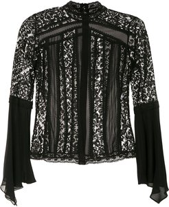 high neck blouse - Black