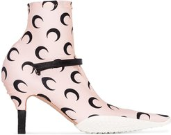 50mm moon print ankle boots - Neutrals