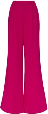 wide-leg flared trousers - PINK