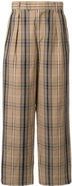 plaid trousers - Brown