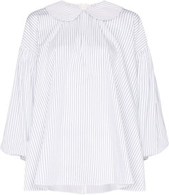 striped Peter Pan collar shirt - Blue