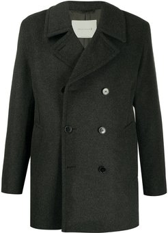 Broom double-breasted coat - Grey