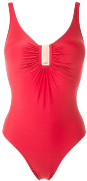 Mirassol ruched swimsuit - Red