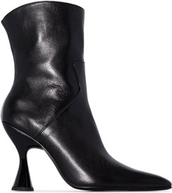 Stainless ankle boots - Black
