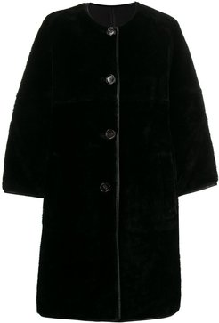 shearling coat - RON99 BLACK