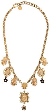 necklace with pendants - GOLD