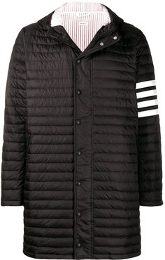 4-bar padded coat - Black