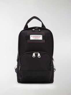 mini Downtown logo patch backpack