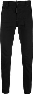 fitted slim-fit jeans - Black