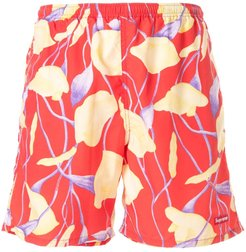 floral print swim trunks - Red