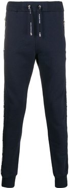 logo strap track trousers - Blue