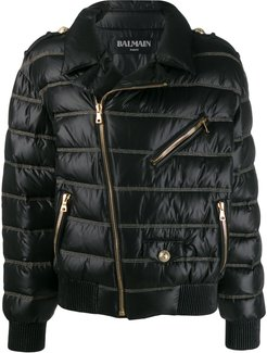 quilted down jacket - Black