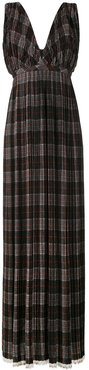 checkered pleated night gown - Multicolour
