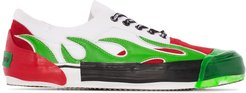 Flame low-top sneakers - White