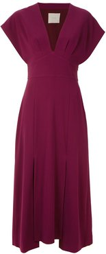 Lawrence midi dress - Red