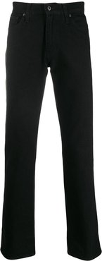 boot-cut mid-rise jeans - Black