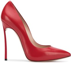 pointed toe stiletto pumps - Red