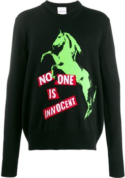 No One Is Innocent patch sweater - Black