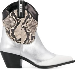 western style boots - SILVER