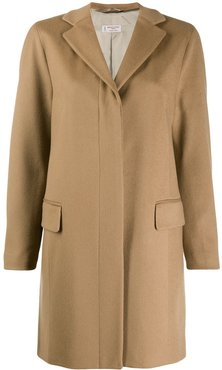 concealed front coat - Neutrals