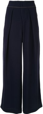 classic flared trousers - Blue