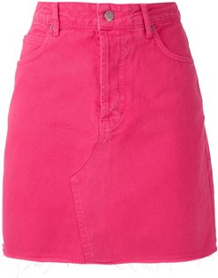 twill mini skirt - PINK