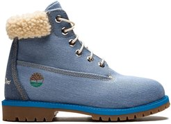 6in Fabric boots - Blue